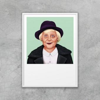 edition ij HIPSTORY Angela Merkel DIN A5-Wandprint