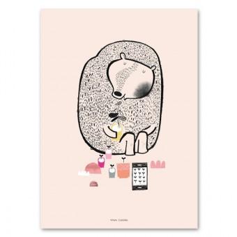 Plant Bear Poster (50x70cm)