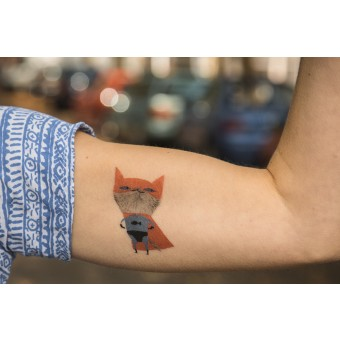 TEMPORARY TATTOO - SUPERCAT (SET OF 2)