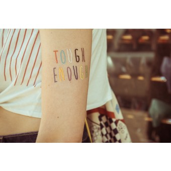 TEMPORARY TATTOO - TOUGH ENOUGH (SET OF 2)