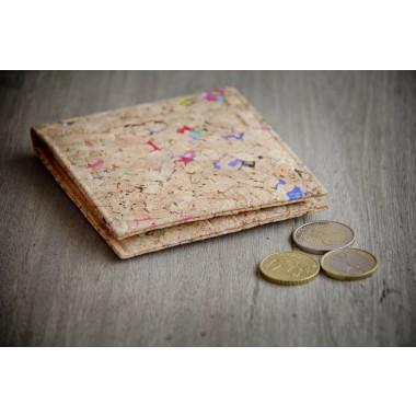 Portemonnaie aus Kork, Geldbörse mit farbigen Akzenten BY COPALA