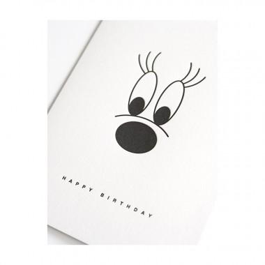 softcurls –Letterpress-Klappkarte DIN A6 mit Umschlag