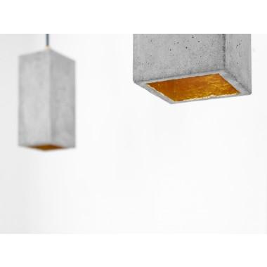 Beton Hängelampe [B2] Lampe Gold rechteckig