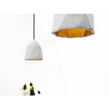 Beton Hängelampe [T1] Lampe Gold ausgefallen
