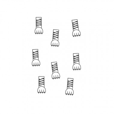 redfries stamp tiger paw – Stempel