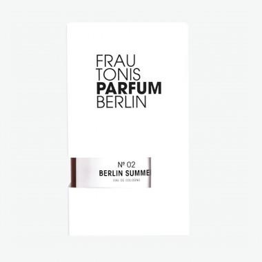 Frau Tonis Parfum No. 02 BERLIN SUMMER (spritzig, zitrisch, klassisch), 50 ml Eau de Cologne
