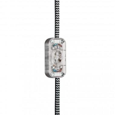 """Lichtliebe Tischleuchte """"Fafoo"""" in dunkelbraun und schwarz-weiß, inkl. LED Retro Vintage Glühbirne im Edison Style mit nur 1,5 Watt"""