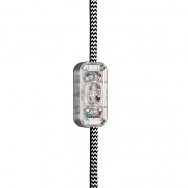 """Lichtliebe Tischleuchte """"Fafoo"""" in weiß und schwarz-weiß inkl. LED Vintage Glühbirne im Edison Style mit nur 1,5 Watt"""