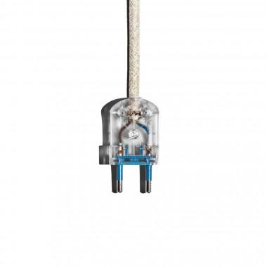 """Lichtliebe Tischleuchte """"Rekoo"""" in korall und Leinen natur inkl. LED Vintage Glühbirne im Edison Style mit nur 1,5 Watt"""