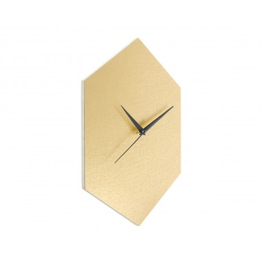 WOOD U? WATCH - Wanduhr im edlen Gold-Look