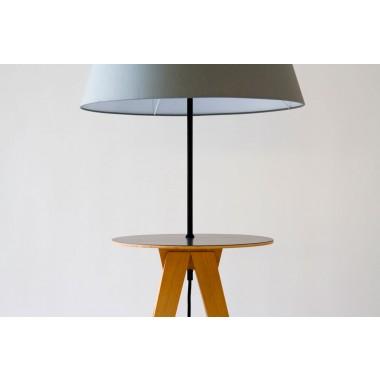 Laemple mit Tisch  Material: Buche ungedämpft, Baumwolle,                 Multiplex Laminat beschichtet