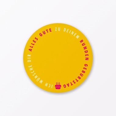 """TYPOP 2-teiliges Set Design GEBURTSTAGSKARTE """"Runder Geburtstag 30"""" rund inkl. Umschlag"""