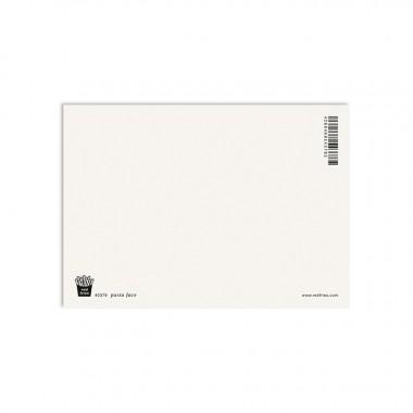 redfries pasta face – Postkarte DIN A6