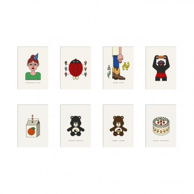 redfries set good vibes – 20 Postkarten DIN A6 in der Geschenkbox