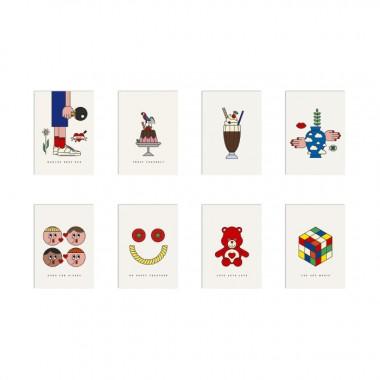 redfries set lovestory – 20 Postkarten DIN A6 in der Geschenkbox