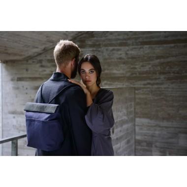 VANOOK Dual Backpack Navy / Charcoal