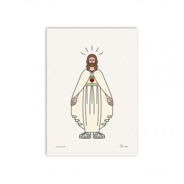 redfries jesus loves you – Kunstdruck DIN A3