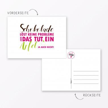 """TYPOP Postkarte """"Schokolade löst keine Probleme"""" DIN A6"""