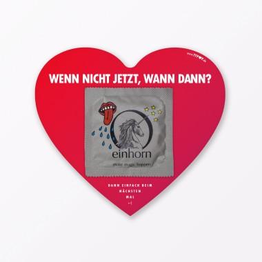 "TYPOP 3-teiliges Set Design VALENTINSTAGSKARTE ""Wunder von Valentinstag"" inkl. Umschlag & Kondom"