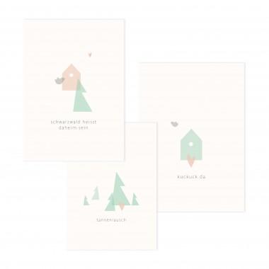 Daheim Sein –  Postkartenset: Schwarzwald