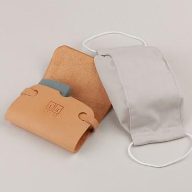 Laura Stolz / Maskentasche / pflanzlich gegerbtes Leder / beige
