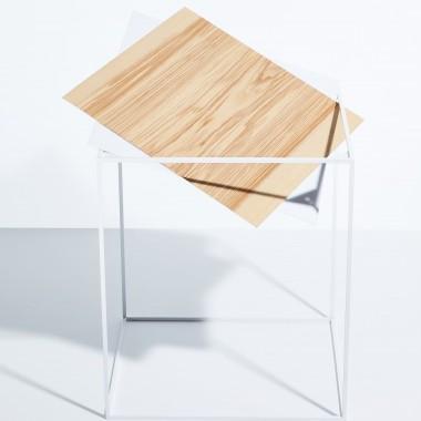 SkanBavaria Wuzzl - Beistelltisch mit Holzplatte (Nussbaum)