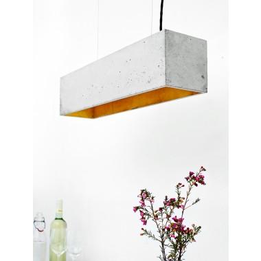 [B4] Hängeleuchte Beton Gold minimalistisch