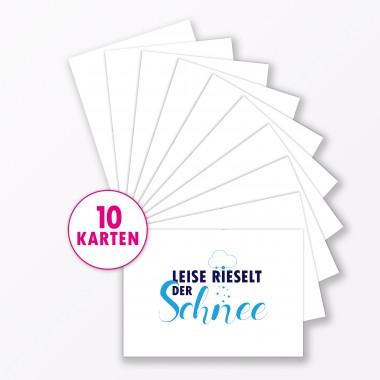 """TYPOP Postkarte """"Leise rieselt der Schnee"""" DIN A6"""
