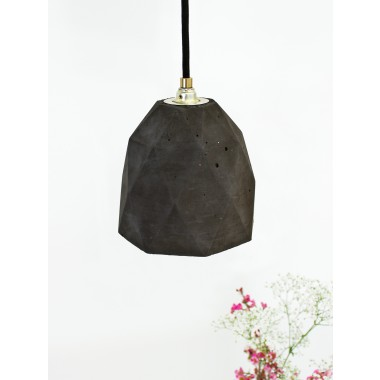 Beton Hängelampe [T1]dark Lampe Gold trianguliert