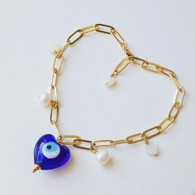 Valerie Chic - EVIL EYES Armband 18 Karat vergoldet