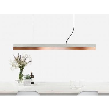 Beton Hängeleuchte [C1]copper Lampe Kupfer minimalistisch