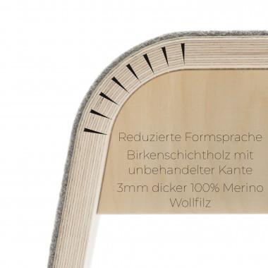 STADIG.stubenhocker Design Sitzhocker aus Holz mit Wollfilz