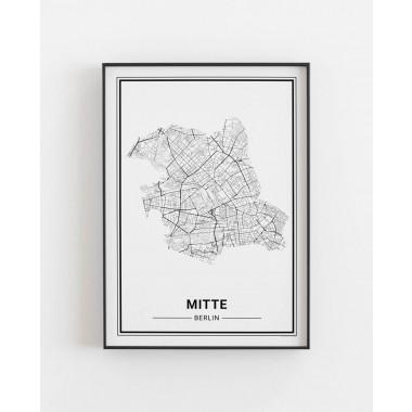 BERLIN Mitte Poster Stadtplan
