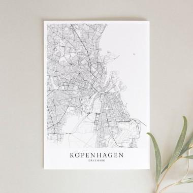 KOPENHAGEN als hochwertiges Poster im skandinavischen Stil von Skanemarie +++ Geschenkidee