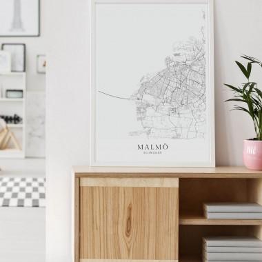 MALMÖ als hochwertiges Poster im skandinavischen Stil von Skanemarie +++ Geschenkidee