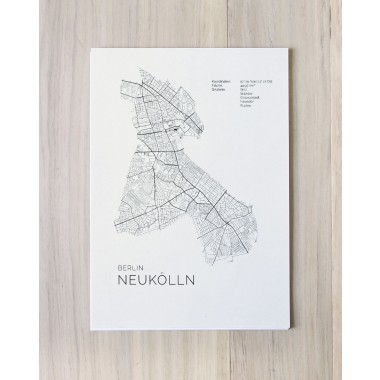 Karte BERLIN NEUKÖLLN als Print im skandinavischen Stil von Skanemarie +++ Geschenkidee zu Weihnachten