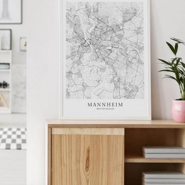 MANNHEIM als hochwertiges Poster im skandinavischen Stil von Skanemarie +++ Geschenkidee