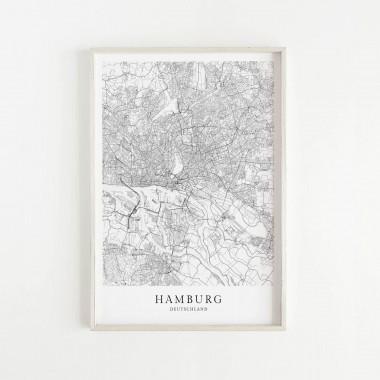 HAMBURG als hochwertiges Poster im skandinavischen Stil von Skanemarie +++ Geschenkidee