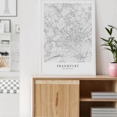 FRANKFURT als hochwertiges Poster im skandinavischen Stil von Skanemarie +++ Geschenkidee