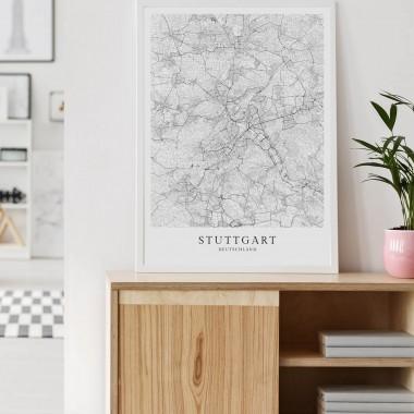 STUTTGART als hochwertiges Poster im skandinavischen Stil von Skanemarie +++ Geschenkidee