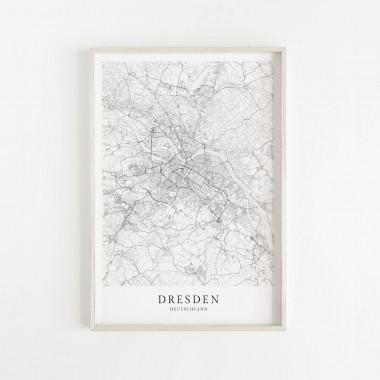DRESDEN als hochwertiges Poster im skandinavischen Stil von Skanemarie +++ Geschenkidee