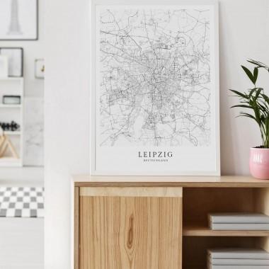 LEIPZIG als hochwertiges Poster im skandinavischen Stil von Skanemarie +++ Geschenkidee