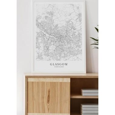 Karte GLASGOW als Print von Skanemarie