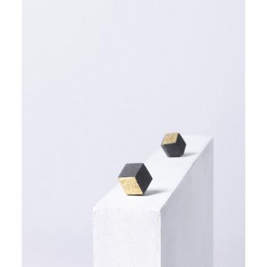Ohrstecker Keramik Gold 22,5 Karat