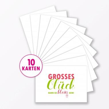"TYPOP Postkarte ""Großes Glück"" DIN A6"