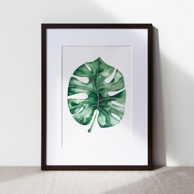 "Paperlandscape | Aquarell Kunstdruck ""Monstera Blatt"" | Pflanze | Illustration |verschiedene Größen"