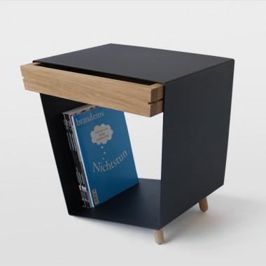 chris ruby 12 tisch mit schublade schwarz. Black Bedroom Furniture Sets. Home Design Ideas