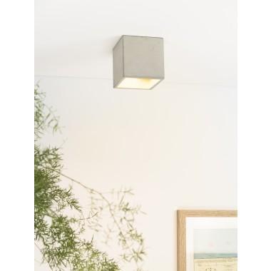 GANTlights - [B7] Deckenspot quadratisch Beton und Gold