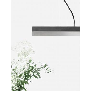 [C2]dark/stainless steel Pendelleuchte Edelstahl klein