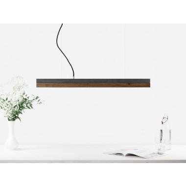 GANTlights - Beton Hängeleuchte [C2]dark/walnut Lampe Nussbaum minimalistisch